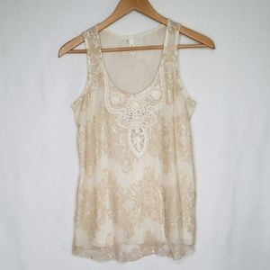 🌻3 for $18 Lace Embellished Tank Top Studio Y